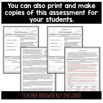 Text Structure Assessment