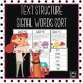 Nonfiction Text Structures-SIGNAL WORDS Activity