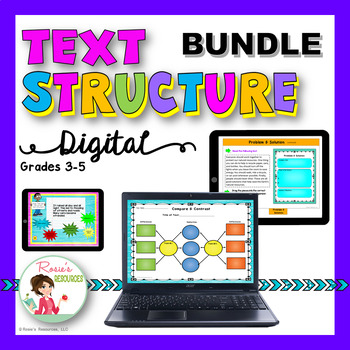 Text Structure Digital Bundle for Google Classroom