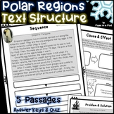Text Structure Activities ~ Christmas Reading Comprehension ~ Polar Regions