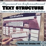 Text Structure Analysis Lesson Plans, Bulletin Board, and
