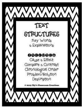 Text Structure Anchor Charts