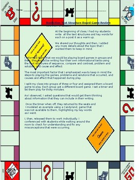 Text Structure Board Games Project