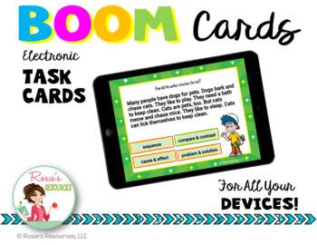 Text Structure Boom Cards