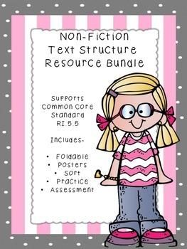 Text Structure Resource Bundle Common Core Standard RI.5.5