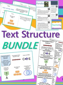 Text Structure Bundle {Task Cards, Passages, Bookmarks, Gr