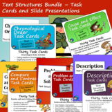 Text Structure Bundle - Slide Presentations and Task Cards