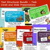 Text Structure Bundle - Slide Presentations and Task Cards