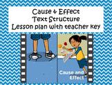 Text Structure- CCR5- Cause & Effect Classwork Packet & Teacher Key