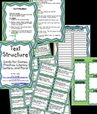 Text Structure Cards for Games, Practice, Literacy Centers and More!  Plus Bonus