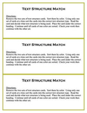 Text Structure Center Activity