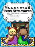 RL4.5 RI4.5 Text Structure Chart and Test Common Core TN Ready Aligned