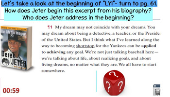 Text Structure Close Read- The Life You Imagine Codex Unit 6