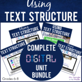 Text Structure DIGITAL Bundle   Vocabulary   Guided Notes
