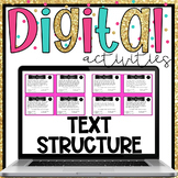 Informational Text Structure Digital Activities for Google Classroom