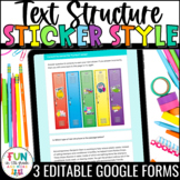 Text Structure Digital Activity Sticker Style | For Use wi