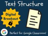 Text Structure - Digital Breakout! (Escape Room, Brain Break, ELA Test Prep)