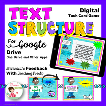 Text Structure Digital Game for Google