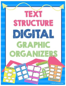 Text Structure Digital Graphic Organizers