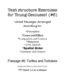 Text Structure Exercises for Young Geniuses! (#6)