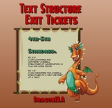 Text Structure Exit Tickets