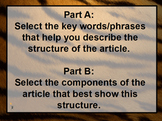 Text Structure FSA Discussion Questions