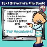 Text Structure Flip Book for teachers!