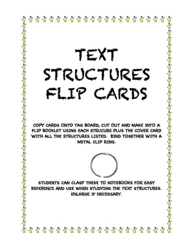 Text Structure Flip Cards