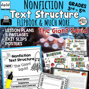 Nonfiction Text Structures Informational Text 3rd Grade RI