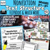 Nonfiction Text Structure Passages Lesson Plans RI3.8  RI4.5