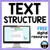 Text Structure Free Digital Activity for Distance Learning