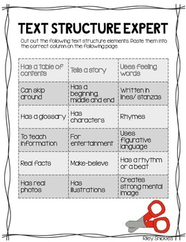 Text Structure Freebie!