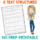 FREE Informational Text Structure Worksheet Activity | Distance Learning