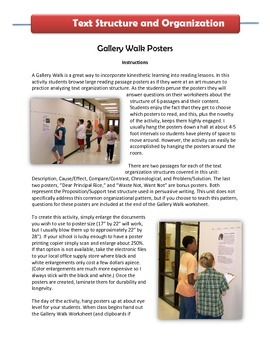 Text Structure Gallery Walk Activity