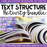 Text Structure Game & Activity Bundle | Text Structure Act