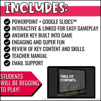 Nonfiction Text Structure Game Show PowerPoint Activity