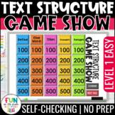 Nonfiction Text Structure Game Show PowerPoint | Test Prep Review Activity