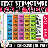 Nonfiction Text Structure Game Show | Test Prep Review Text Structure Activity