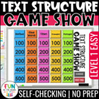 Text Structure Game Show PowerPoint Game