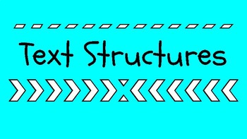 Text Structure Google Slides Presentation