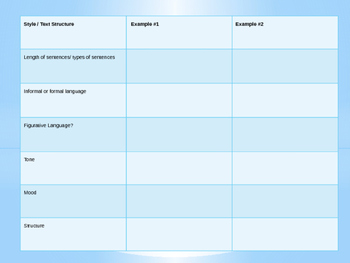 Text Structure Graphic Organizer