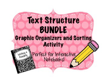 Text Structure Graphic Organizer and Sort BUNDLE