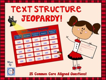 Text Structure Jeopardy Game for Intermediate Grades