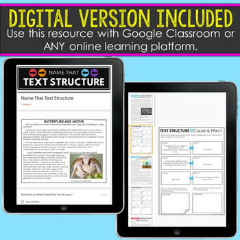 Nonfiction Text Structures Complete Unit | NO PREP
