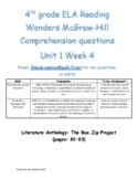 Text Structure McGraw Hill Reading Wonders Grade 4 U1W4