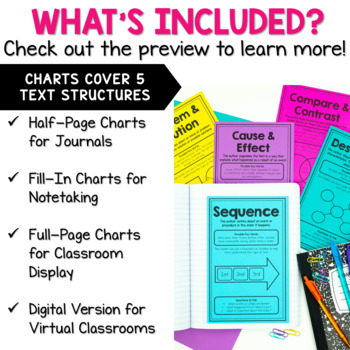 Text Structure Mini Anchor Charts