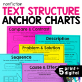 Nonfiction Text Structure Posters and Anchor Charts