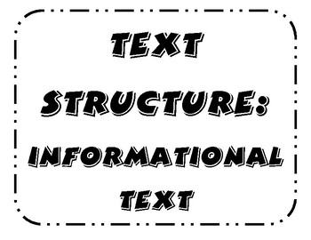 Text Structure Mini Poster Set