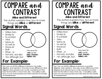 Text Structure Notebook Charts {FREE}
