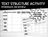 Text Structure Notes or Review Activity #BTS19